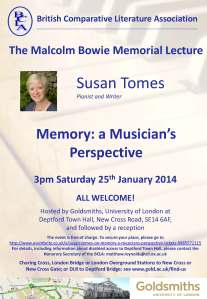 BCLA Malcolm Bowie Memorial Lecture 2014