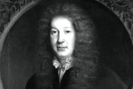John Dryden by John Michael Wright (b&w detail) © National Portrait Gallery, London