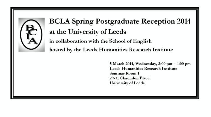 BCLA Spring Postgraduate Reception 2014