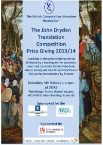 Dryden Prize Giving Flyer 2014 Image