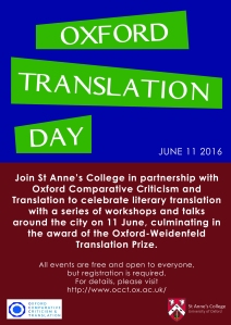 Oxford Translation Day Poster 2016